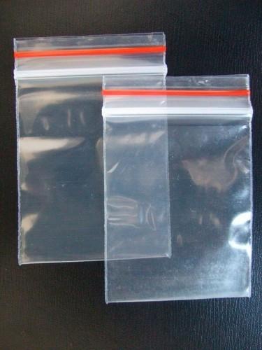saco plástico transparente fecho zip