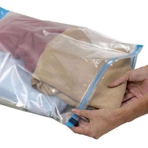 Saco Plásticos Ziplock de Roupas